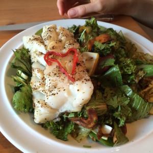 Kabeljau mit Koriander-Salat