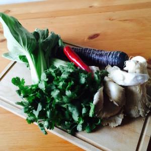 Zutaten für den Koriander-Salat