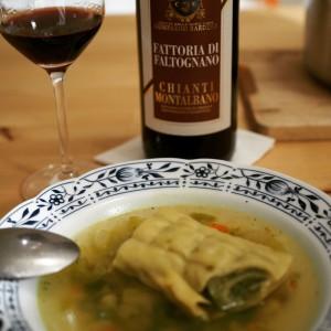 Chianti und Maultaschensuppe