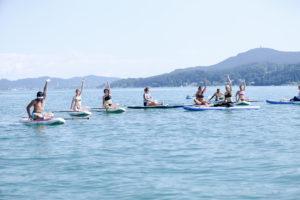 SUP Yoga - Schneller im Wasser als gedacht